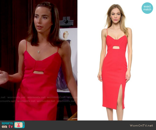 Nicholas Bonded Crepe Diagonal Dress worn by Ashleigh Brewer on The Bold & the Beautiful