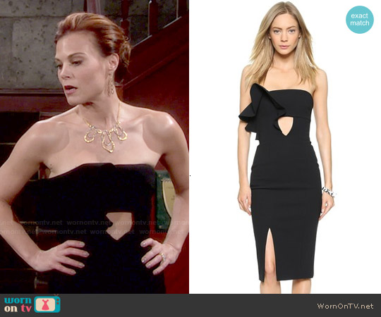 Nicholas Bonded Crepe Ruffle Dress worn by Gina Tognoni on The Young & the Restless