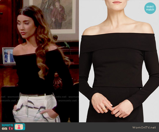 Nicholas Off The Shoulder Top worn by Jacqueline MacInnes Wood on The Bold & the Beautiful