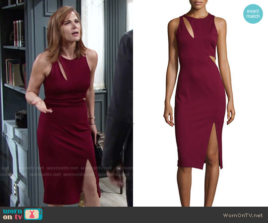 Nicholas Sleeveless Ponte Curve Splice Dress worn by Gina Tognoni on The Young & the Restless