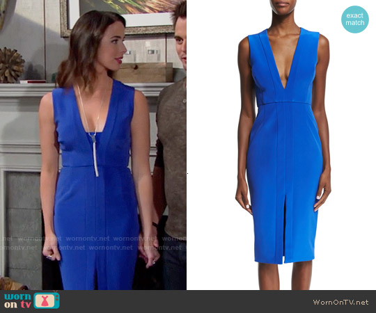 Nicholas Sleeveless V-Neck Sheath Dress worn by Ashleigh Brewer on The Bold & the Beautiful