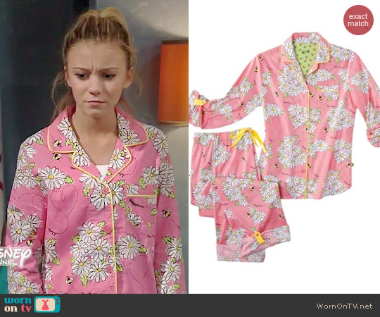 Nick & Nora Bee Mine Floral Pajamas worn by G. Hannelius on Dog with a Blog