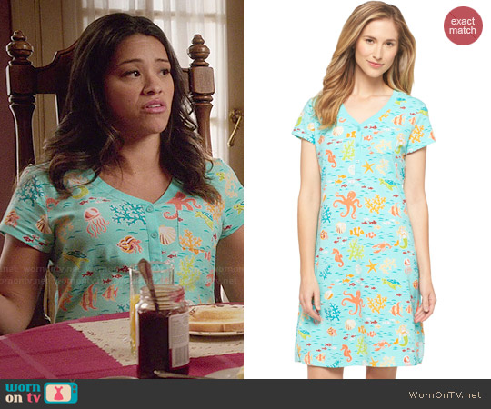 Nick & Nora Nightgown in Turquoise Sea worn by Gina Rodriguez on Jane the Virgin