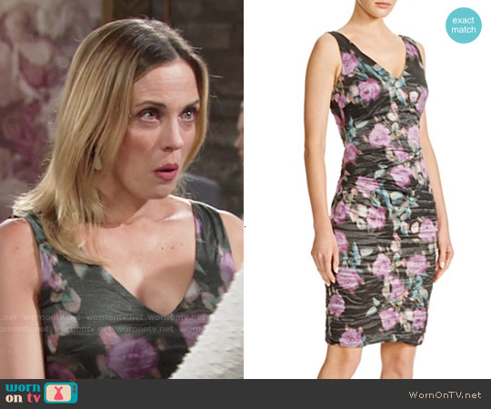 Nicole Miller Flower Strokes Dress worn by Kelly Sullivan on The Young & the Restless