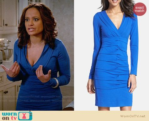 Nicole Miller Tuck Detail Jersey Dress worn by Judy Reyes on Devious Maids