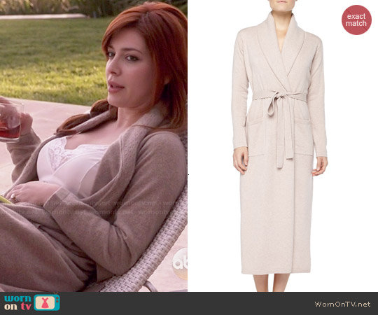 Neiman Marcus Long Cashmere-Silk Robe worn by Elena Satine on Revenge