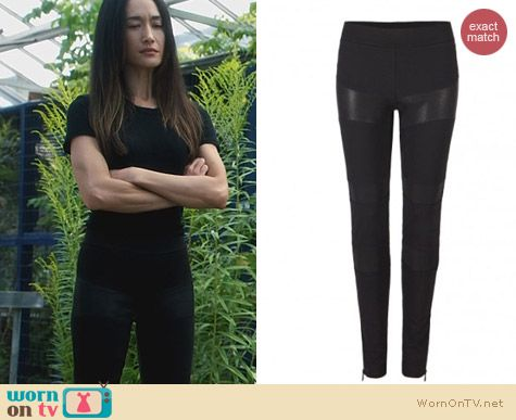 Fashion of Nikita: All Saints West Leggings worn by Maggie Q