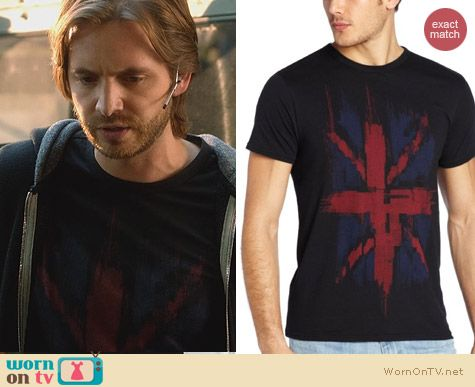 Fashion of Nikita: Ben Sherman Union Jack Tee worn by Aaron Stanford