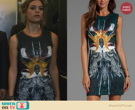 Fashion of Nikita: Clover Canyon Wings Print Dress worn by Lyndsy Fonseca