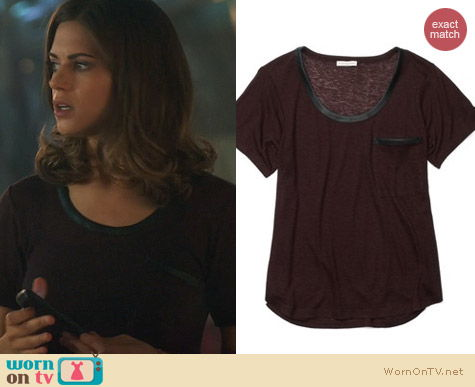 Fashion of Nikita: Club Monaco Hunter Tee worn by Lyndsy Fonseca