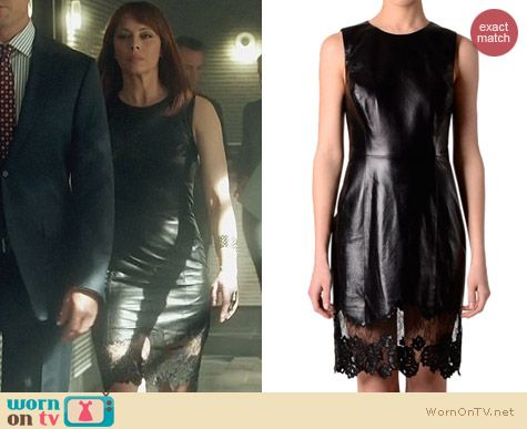 Fashion of Nikita: Jason Wu Leather Fitted Dress worn by Melinda Clarke