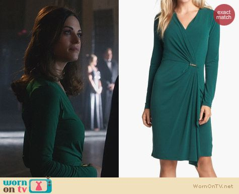 Fashion of Nikita: Michael Kors Faux Wrap Dress worn by Lyndsy Fonseca