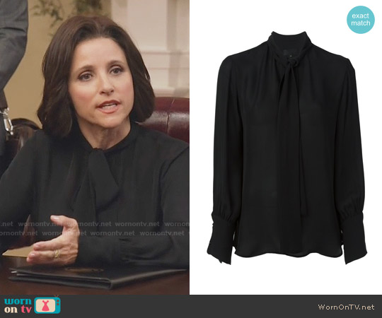 Nili Lotan Pussy Bow Blouse worn by Selina Meyer on Veep