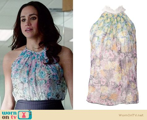 Nina Ricci Floral Blouse worn by Meghan Markle on Suits