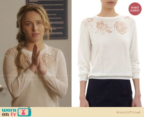 Nina Ricci Floral Devore Pullover worn by Hayden Panettiere on Nashville