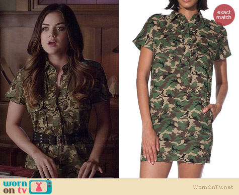 NLST Camouflage Shirtdress worn by Lucy Hale on PLL