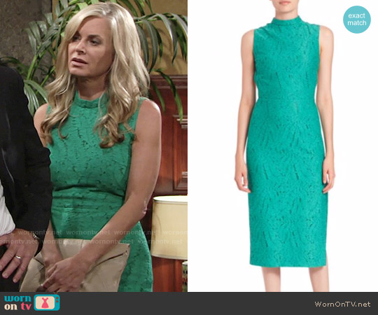 No. 21 Allegra Cutout Lace Dress worn by Eileen Davidson on The Young & the Restless