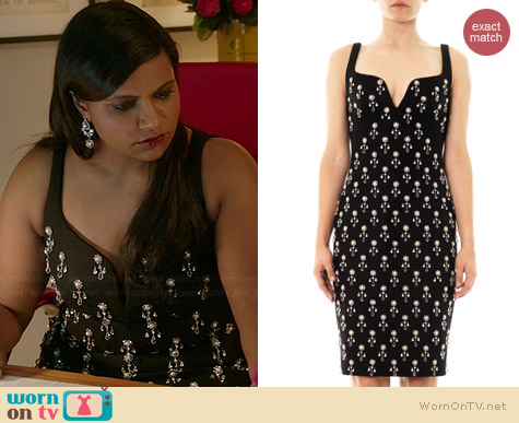 No. 21 Pearl and Crystal Embellished Dress worn by Mindy Kaling on The Mindy Project