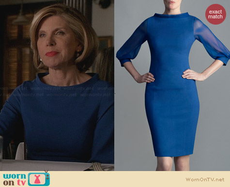 No. 35 Danny Dress in Marine worn by Christine Baranski on The Good Wife