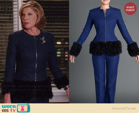 No. 35 Lily 2 Jacket worn by Christine Baranski on The Good Wife