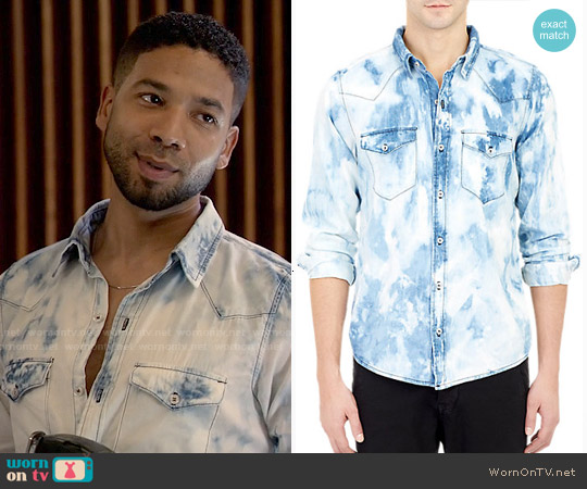 NSF Bleach Washed Western Shirt worn by Jussie Smollett on Empire