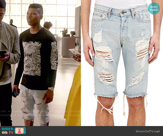 NSF Chuck Distressed Denim Shorts worn by Hakeem Lyon on Empire