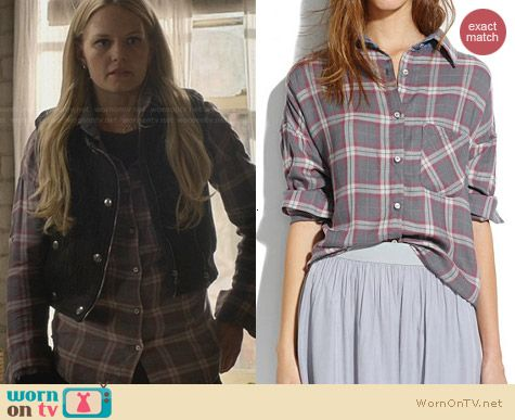 Madewell NSF Rhodes Plaid Shirt worn by Jennifer Morrison on OUAT