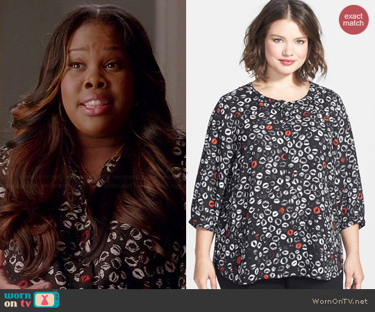 NYDJ Lip Print Top worn by Amber Riley on Glee
