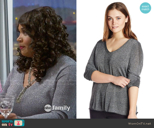 NYDJ Metallic Sweater worn by Kym Whitley on Young & Hungry
