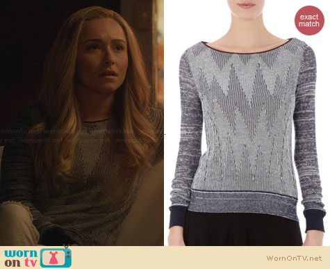 O'2nd Chevron Knit Lux Sweater worn by Hayden Panettiere on Nashville