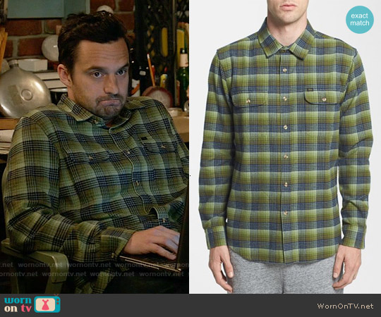Obey Collins Plaid Flannel Shirt worn by Jake Johnson on New Girl