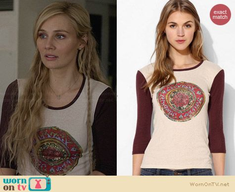 Obey Cosmic Banshee Tee worn by Clare Bowen on Nashville