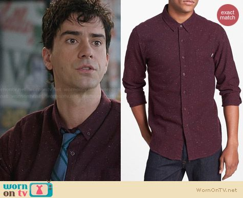 Obey Last Call Flannel Shirt worn by Hamish Linklater on The Crazy Ones