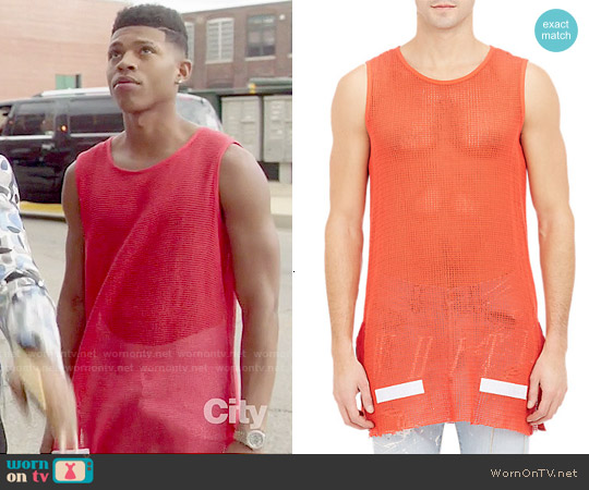 Off-White c/o Virgil Abloh Mesh Tank worn by Bryshere Y. Gray on Empire