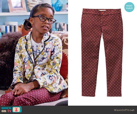 Old Navy Girls The Pixie Polka Dot Jeggings worn by Marsai Martin on Blackish