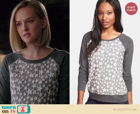 Olivia Moon Textured Sweatshirt worn by Jess Weixler on The Good Wife