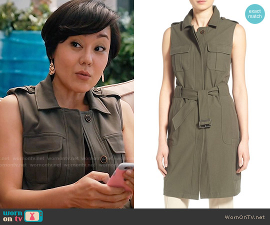 Olivia Palermo + Chelsea28 Long Military Vest worn by Yunjin Kim on Mistresses