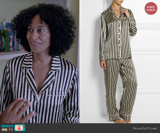 WornOnTV: Rainbow's striped pajamas on Black-ish | Tracee Ellis ...
