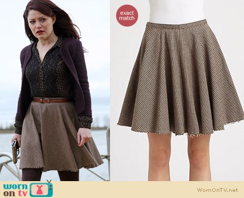 Once Upon A Time Fashion: Belle's Alexander Mcqueen flared skirt