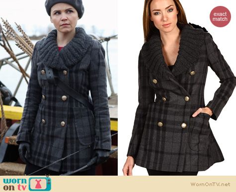 Once Upon A Time Fashion: Snows grey tartan peacoat by Vivienne Westwood