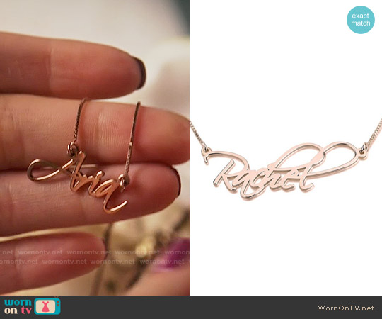 oNecklace Rose Gold Script Name Necklace