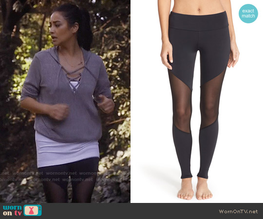 Onzie Colorblock Track Leggings worn by Emily Fields on PLL