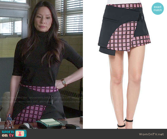 Opening Ceremony 'Marny' Knit Utility Miniskirt worn by Lucy Liu on Elementary