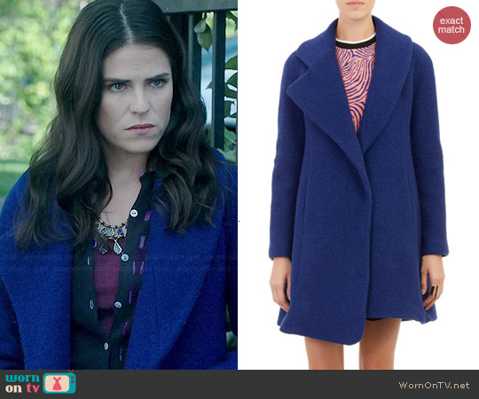Opening Ceremony Asymmetric Hem Morgane Coat worn by Karla Souza on HTGAWM