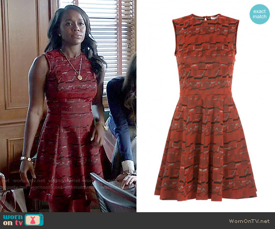 Opening Ceremony Geometric Print Dress worn by Aja Naomi King on HTGAWM