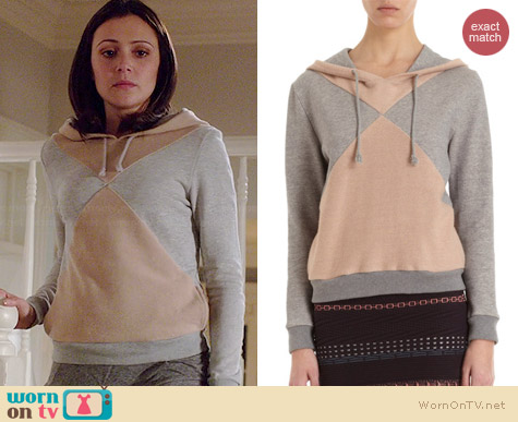 Opening Ceremony Colorblock Hoodie worn by Italia Ricci on Chasing Life
