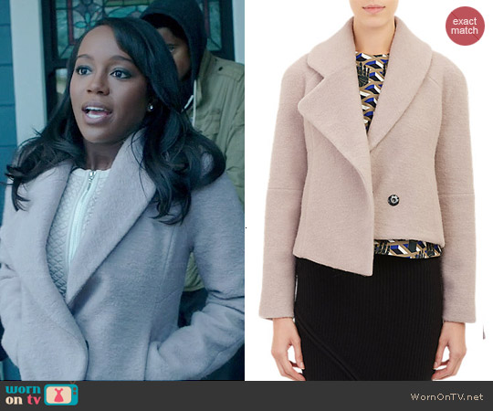 Opening Ceremony Morgane Cropped Jacket worn by Aja Naomi King on HTGAWM