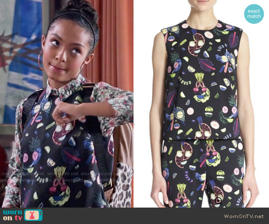 Opening Ceremony Fruit Face Sleeveless Top worn by Yara Shahidi on Blackish