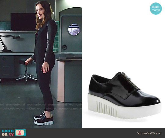 Opening Ceremony  'Grunge' Zip Platform Oxford worn by Elizabeth Henstridge on Agents of SHIELD