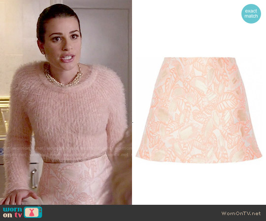 Opening Ceremony Jacquard Mini Skirt worn by Hester Ulrich on Scream Queens